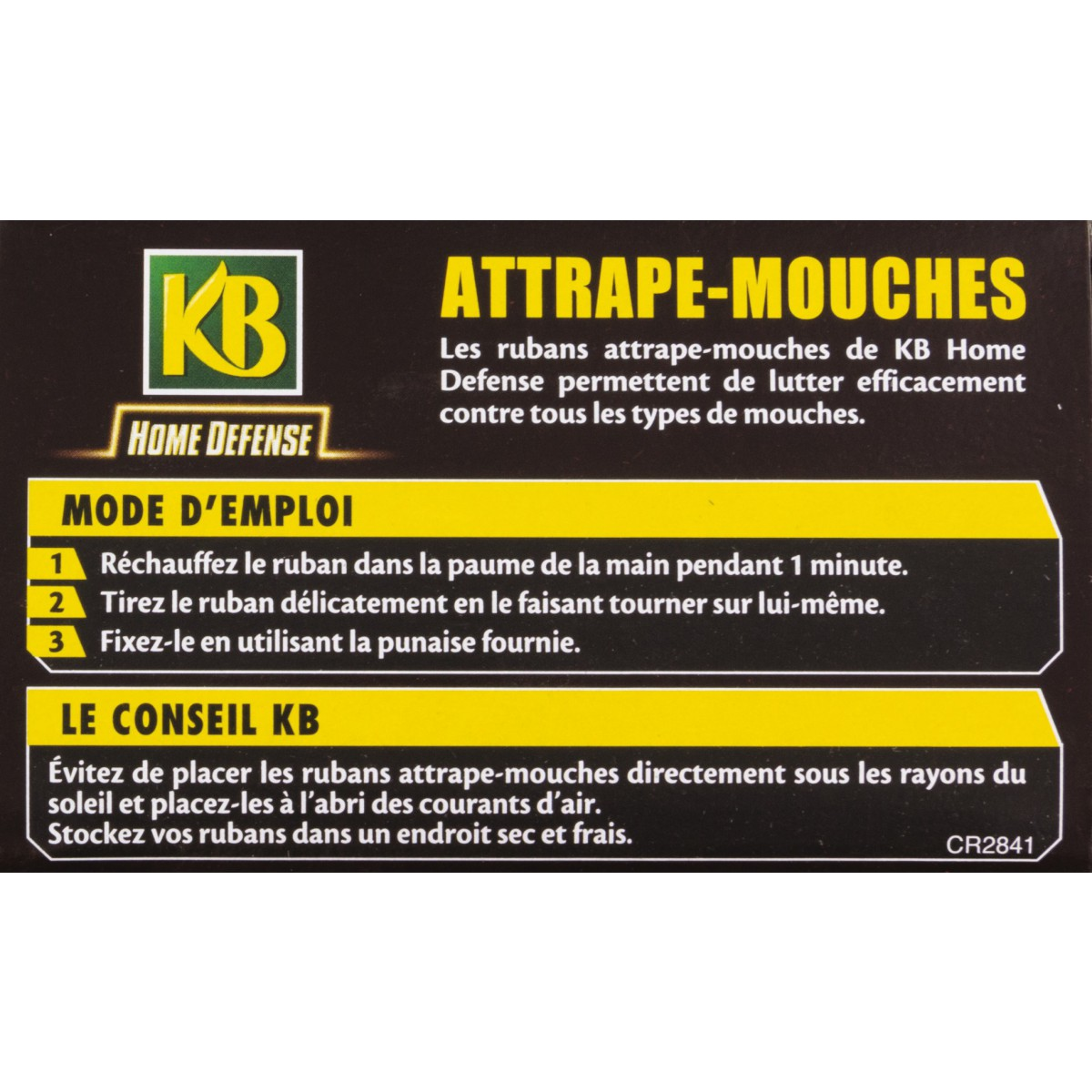 Attrape-mouches ruban KB Home Defense - Vendu par 4