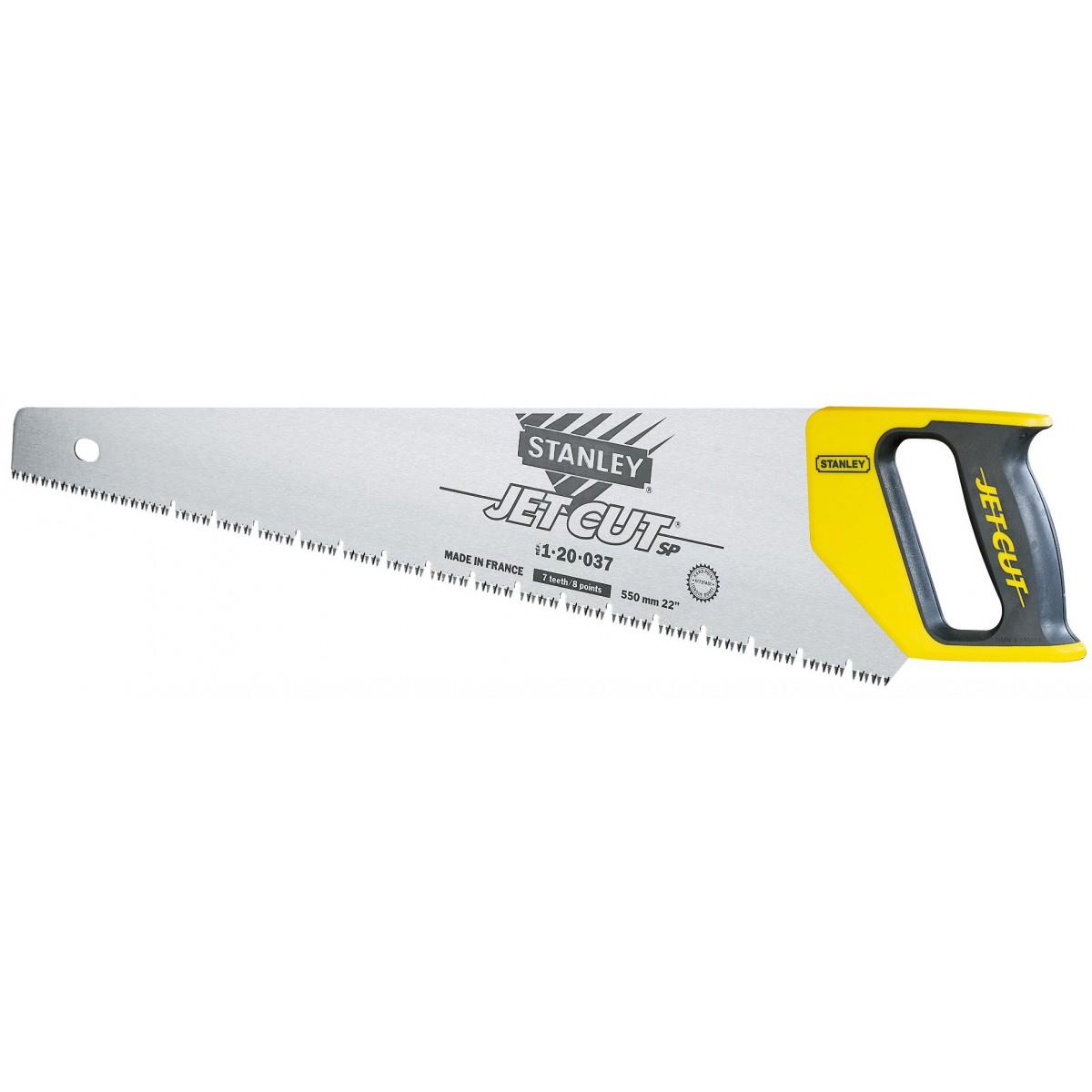 Scie égoïne jet cut Stanley - Spécial plâtre - Longueur 550 mm