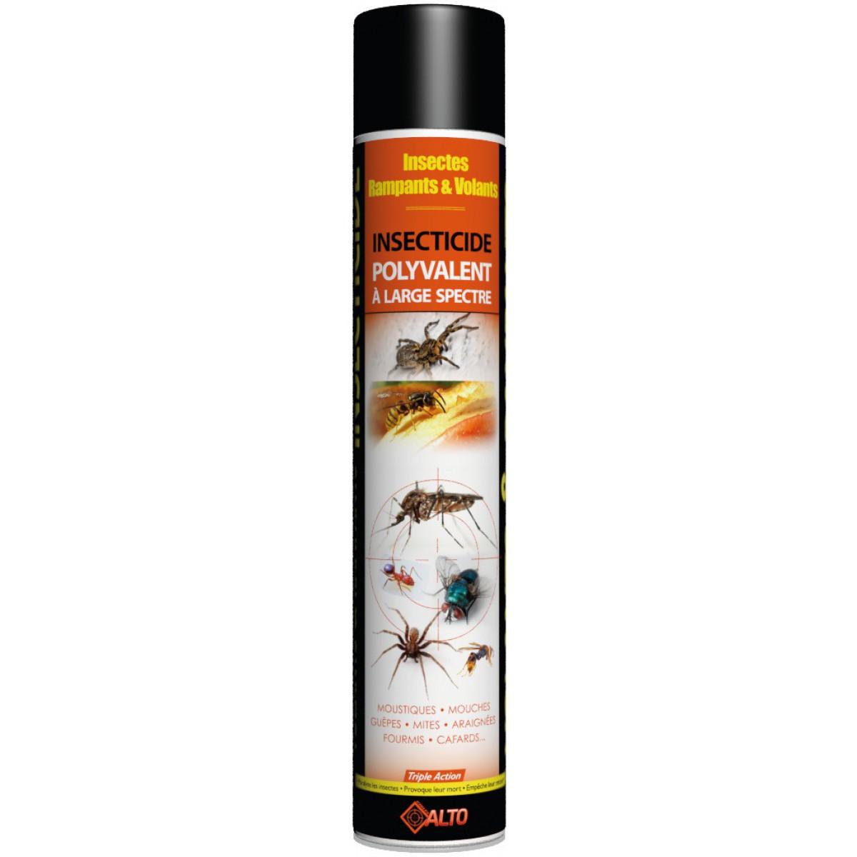 Insecticide polyvalent  à large spectre volants rampants triple action Alto - Aérosol 750 ml