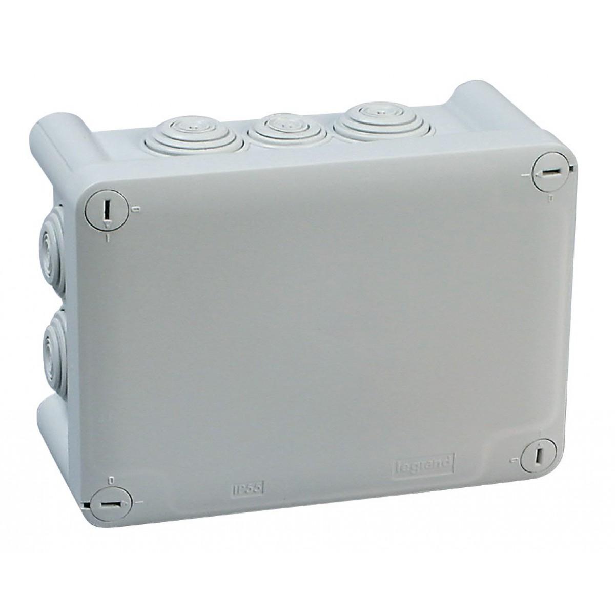 Boîte de dérivation Plexo rectangulaire Legrand - 10 entrées - Dimensions 180 x 140 x 86 mm