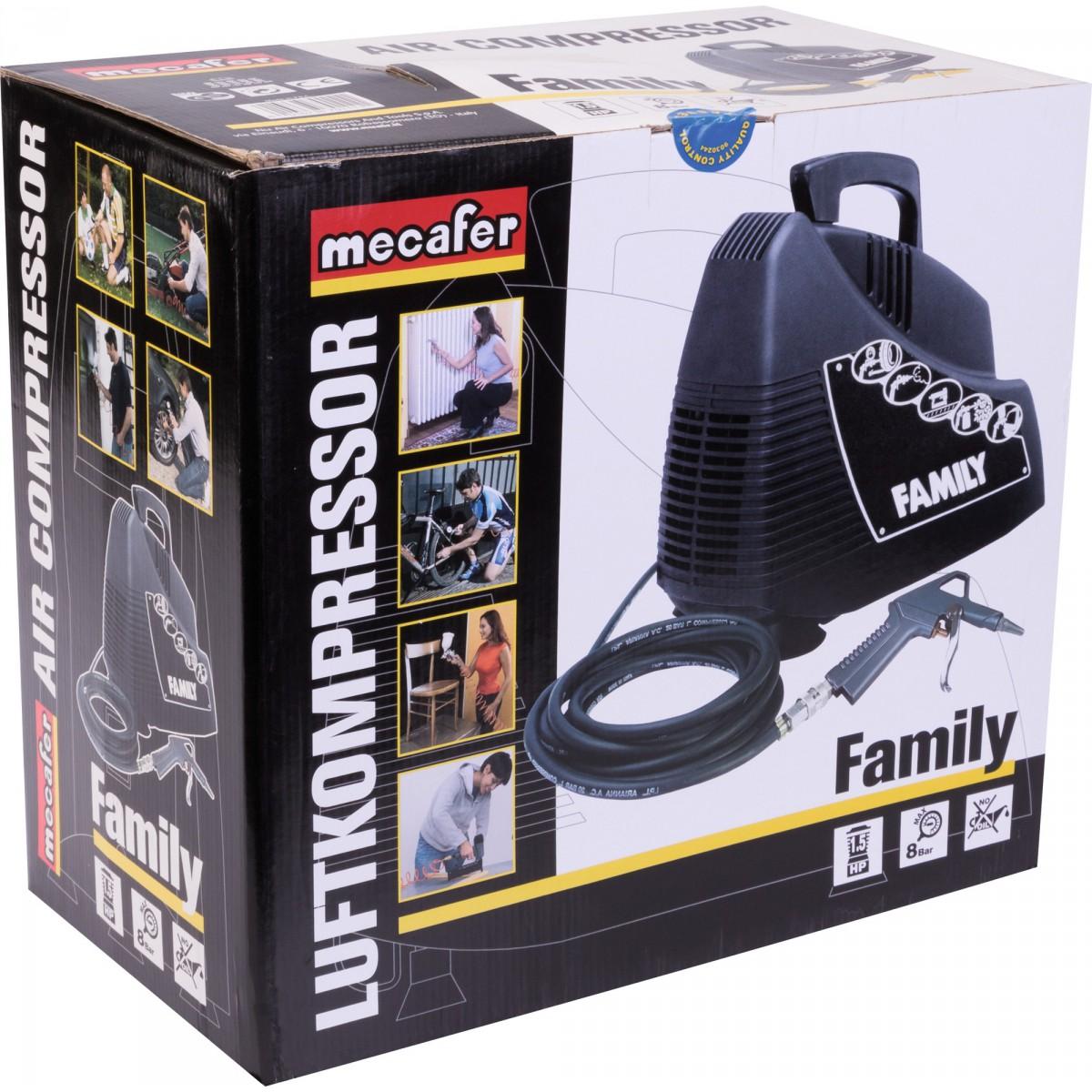Compresseur sans cuve portatif Family Mecafer - 1,5 CV