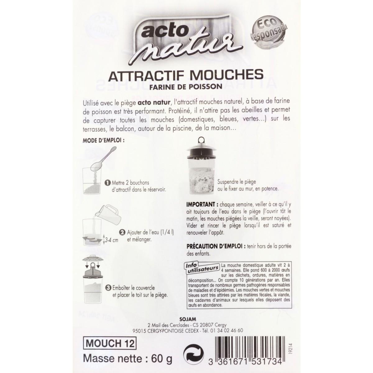 Attractif mouches pour piège Acto Natur - Flacon 60 g