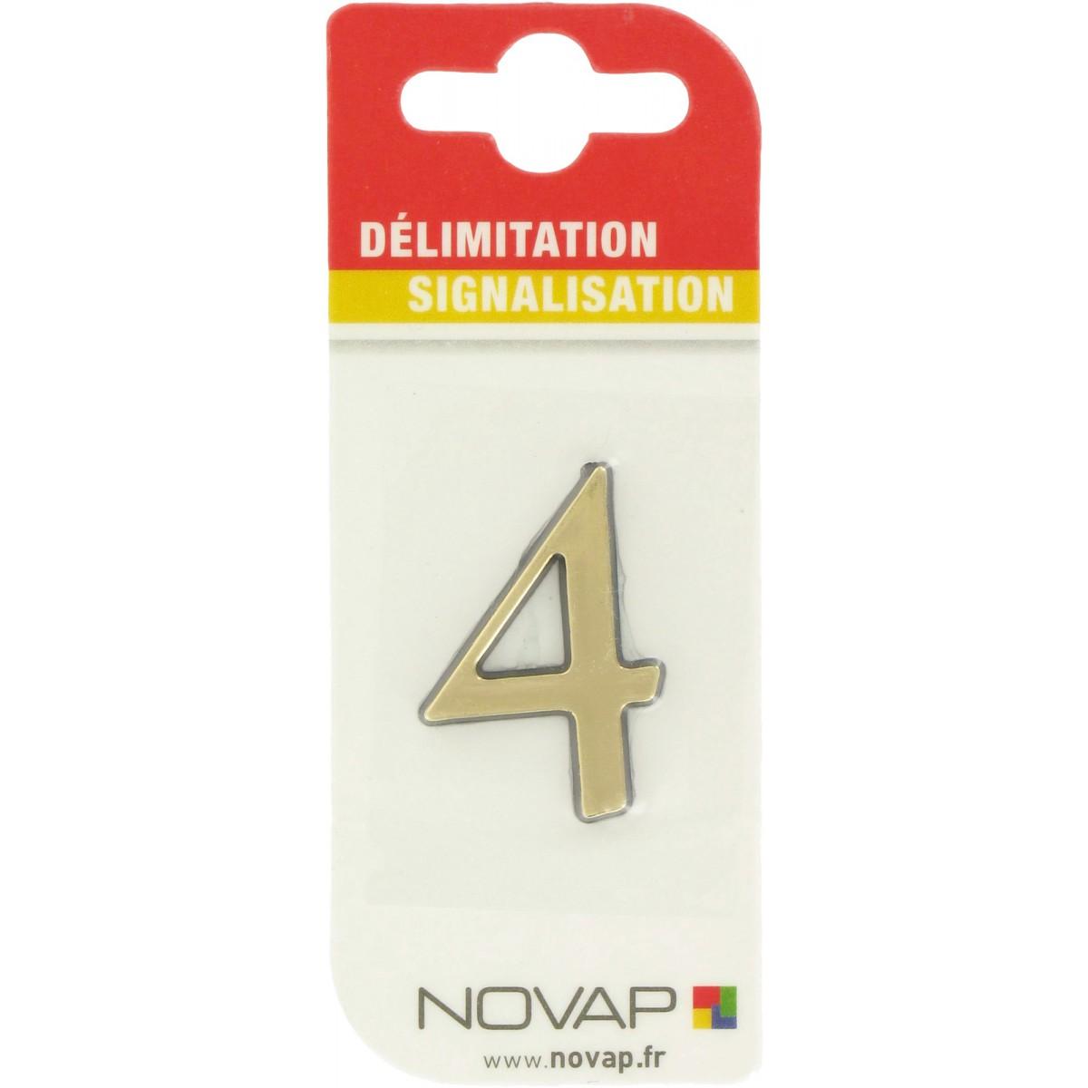 Adhésif plastique en relief coloris or Novap - 4