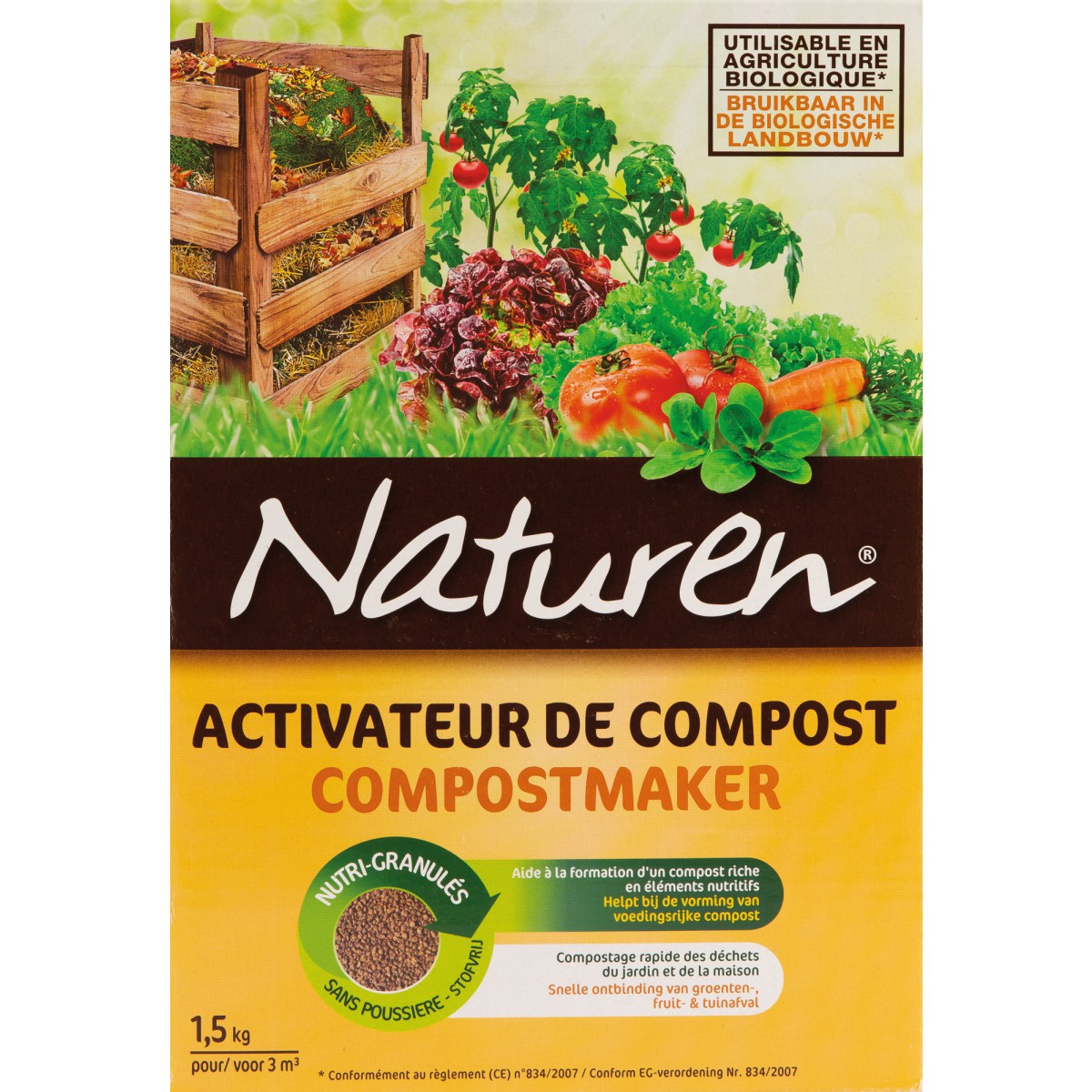 activateur de compost naturen bo te 1 5 kg de activateur de compost. Black Bedroom Furniture Sets. Home Design Ideas