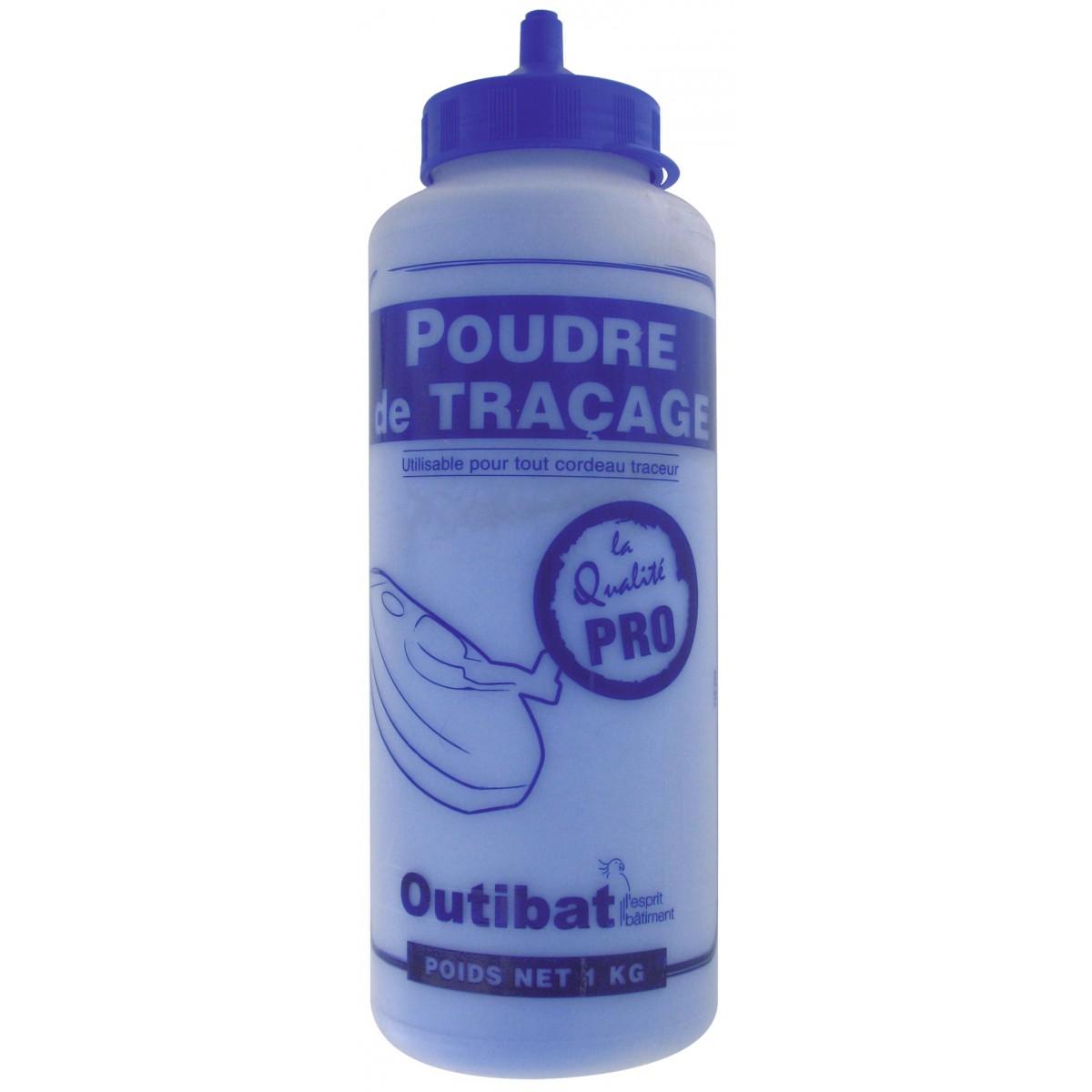 Biberon de poudre bleue Outibat - 1000 g