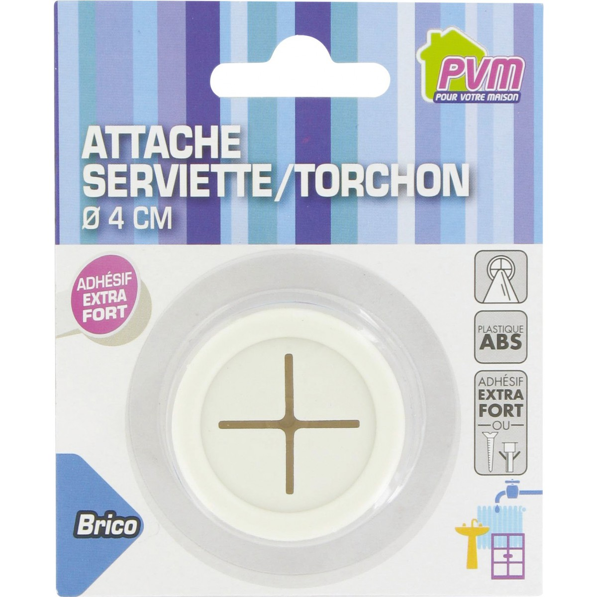 Attache serviette/torchon PVM - Vendu par 1