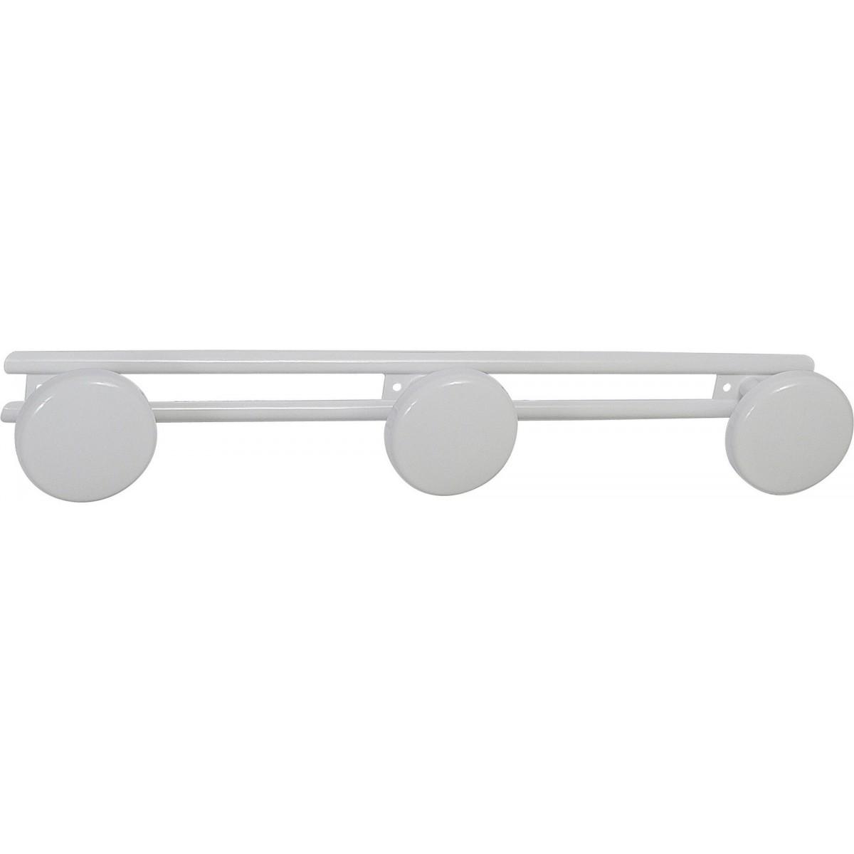 Porte-peignoir époxy blanc - 3 Têtes - Godonnier