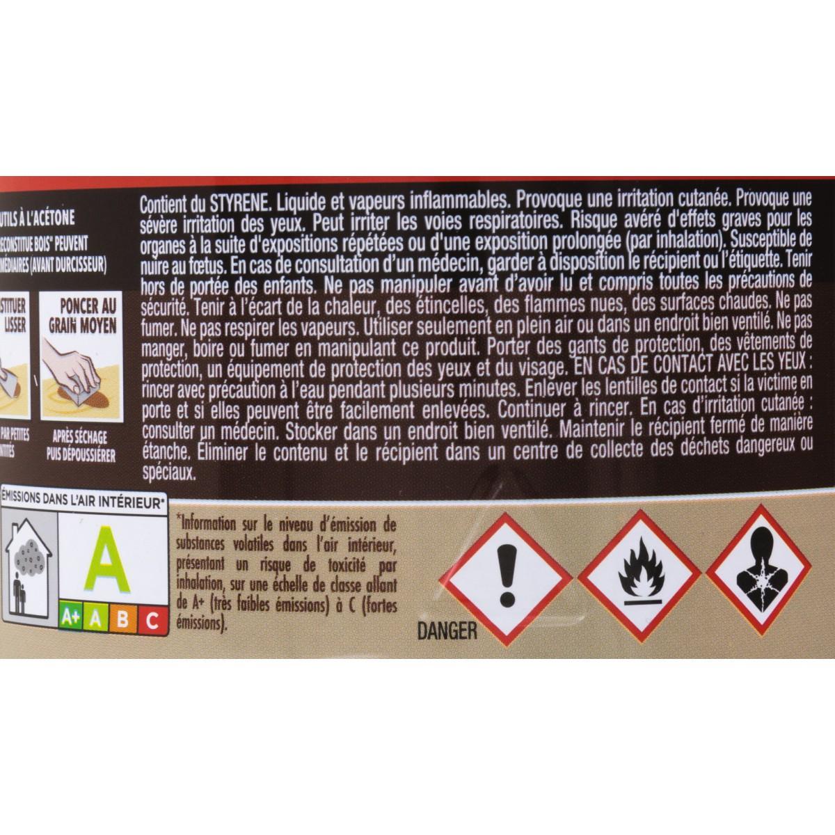 Sintobois mastic à bois avec durcisseur Sinto - Boîte 500 ml / 550 g - Chêne