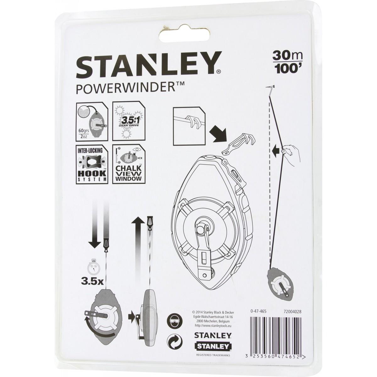 Cordeau traceur Powerwinder Stanley - Longueur 30 m