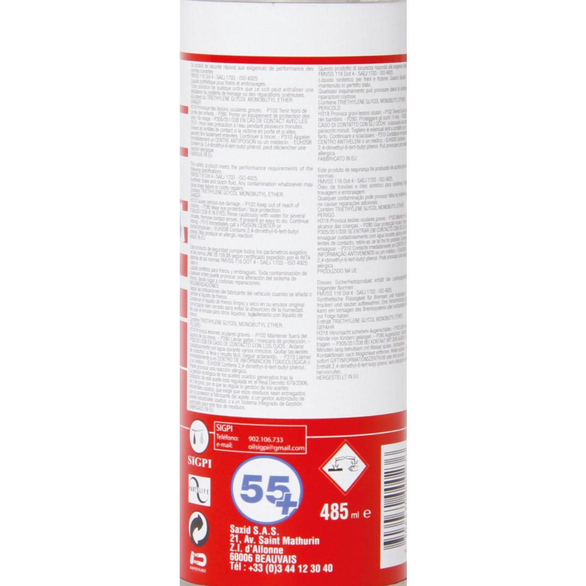 Liquide de frein Flauraud - 485 ml - DOT 4