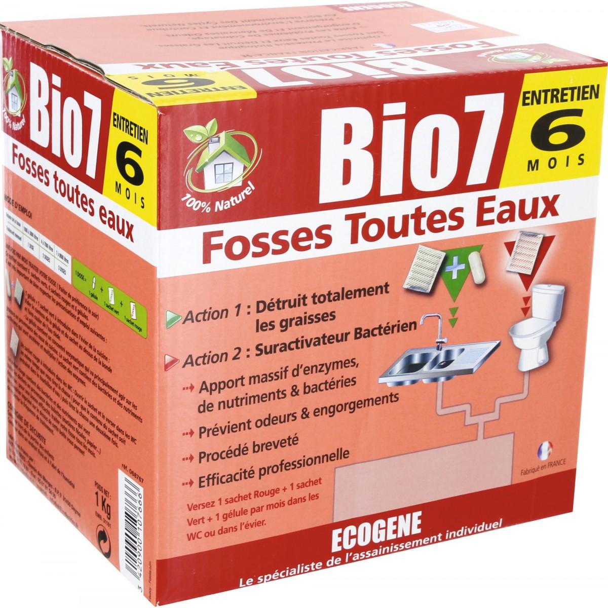 Bio 7 fosses toutes eaux Ecogène - 6 doses