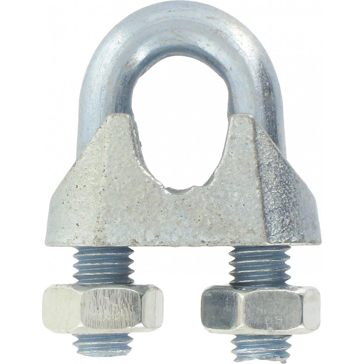 Serre-câble à étrier Chapuis - Etrier acier zingué - Diamètre Câble 12 mm - Vendu par 5