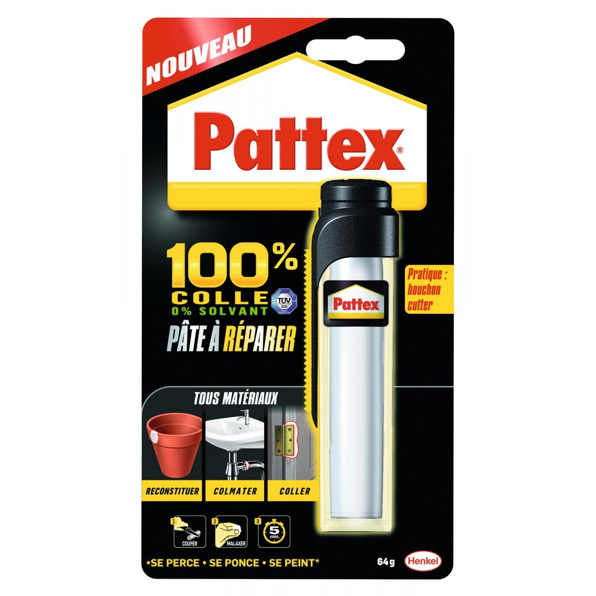 100 % pâte à réparer Pattex - Tube 64 g