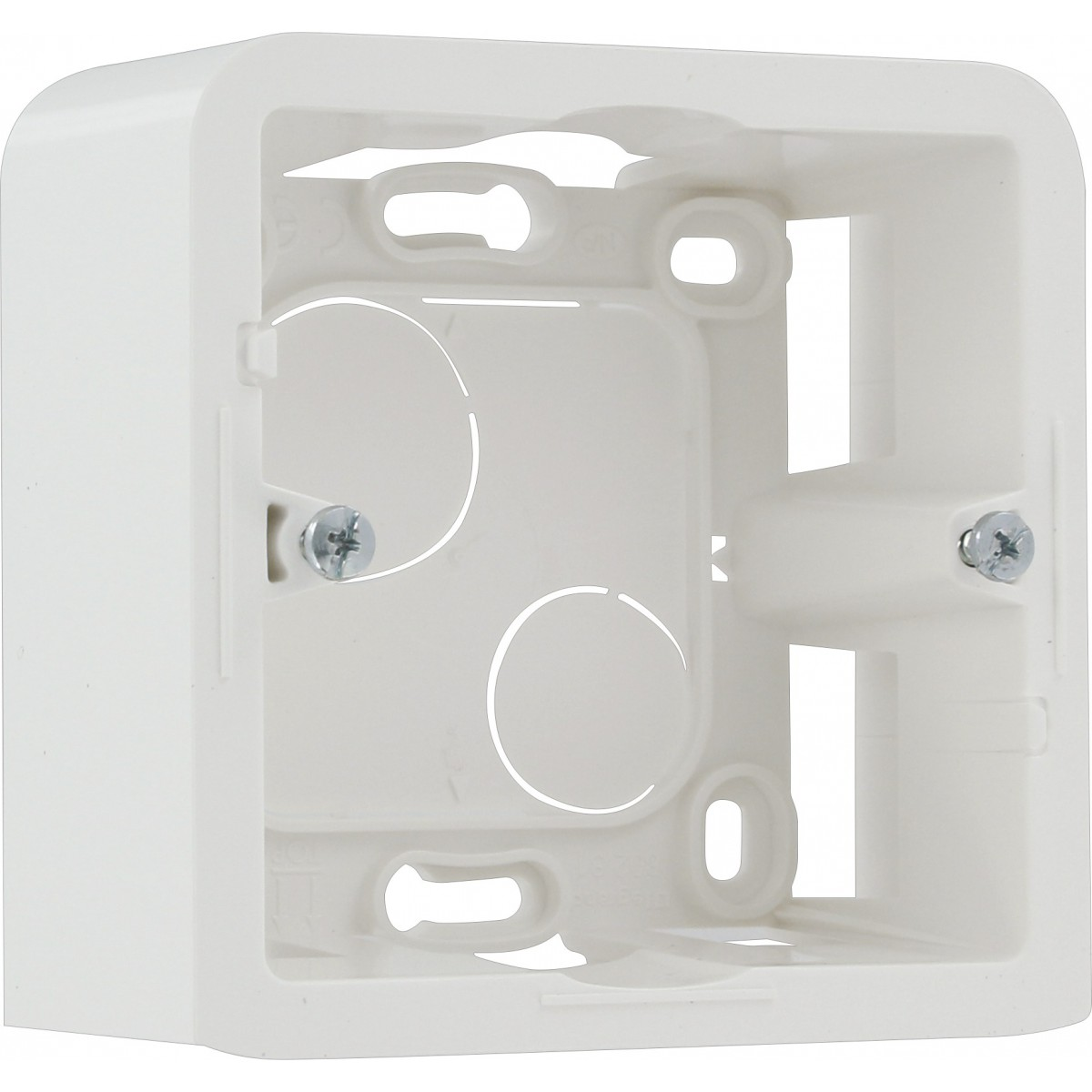 Cadre blanc sans support Legrand - Mosaïc - 2 modules - Profondeur 40 mm