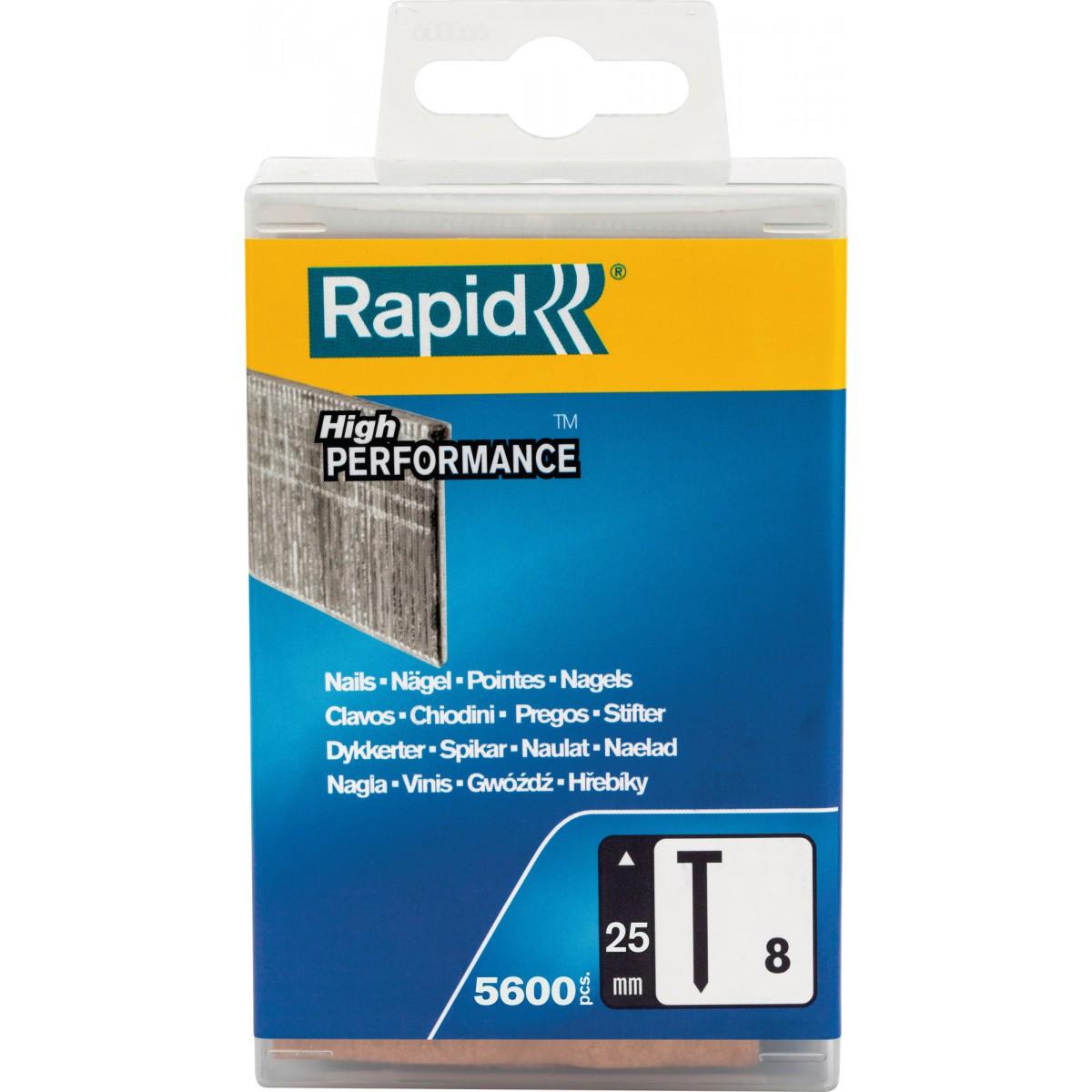 Pointe n°8 Rapid Agraf - Hauteur 25 mm - 5600 pointes