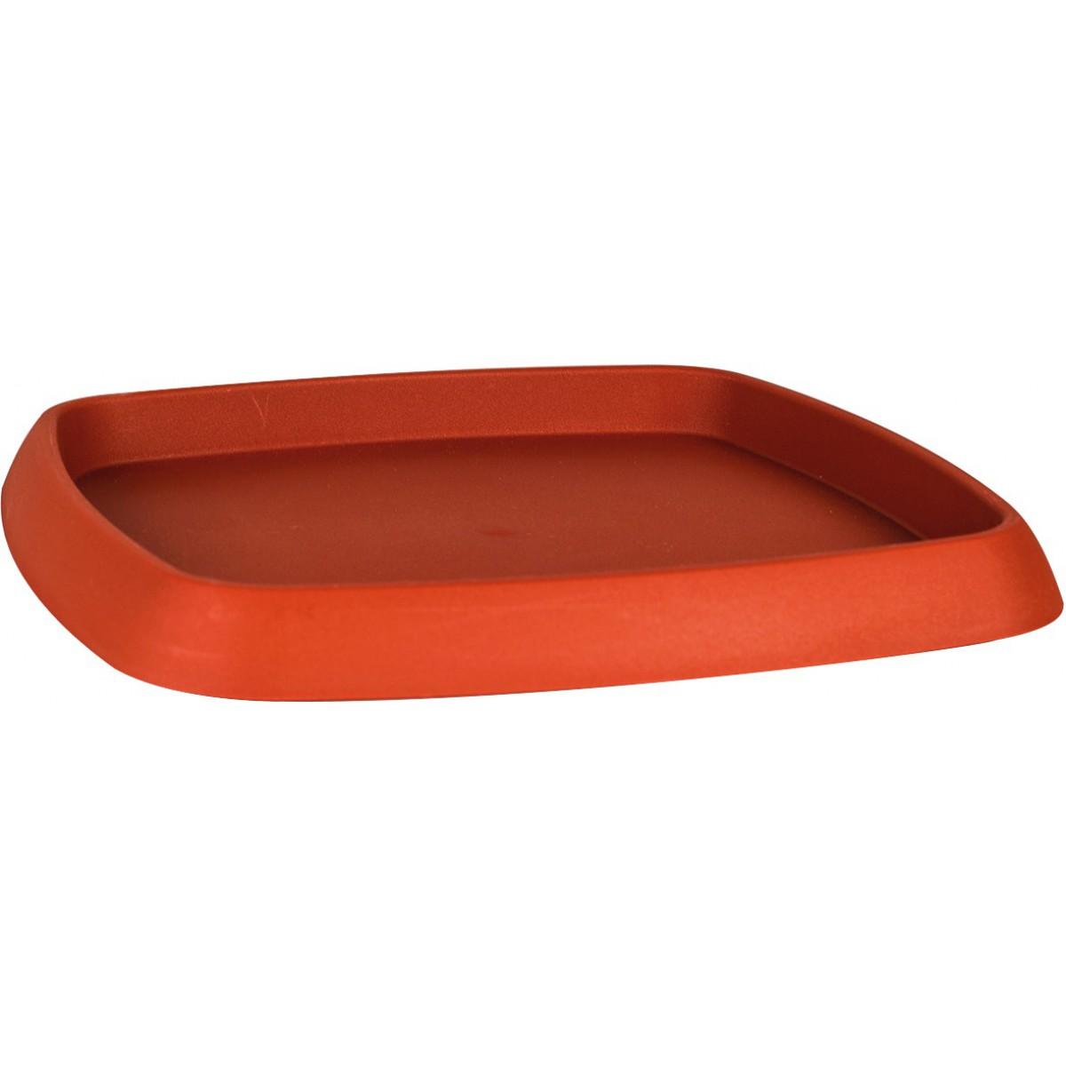 Soucoupe plastique Chorus Eda - Pour pot carré 8,6 l - Potiron