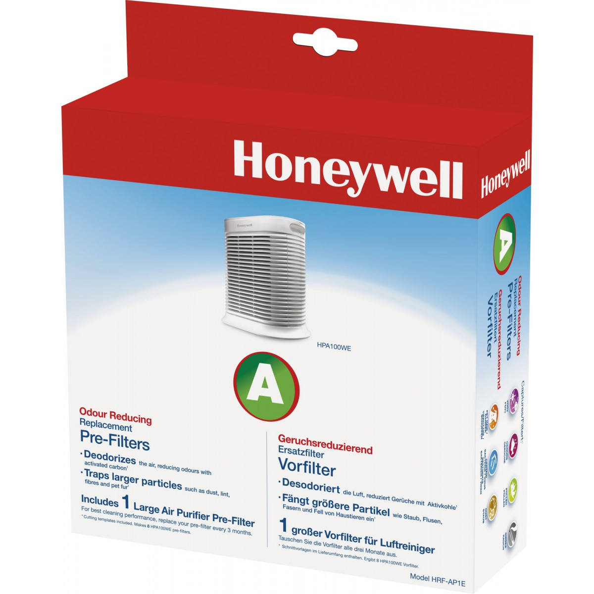 Pré-filtre pour purificateur d'air HAP100WE honeywell - Charbon actif