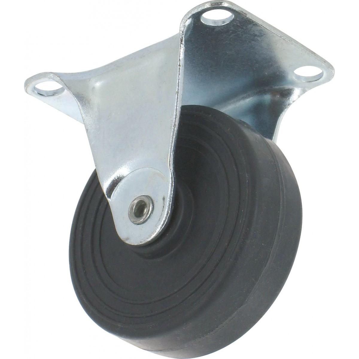 Roulette Mini Roll à platine fixe Guitel point M - Roue plastex gris - Charge utile 15 kg
