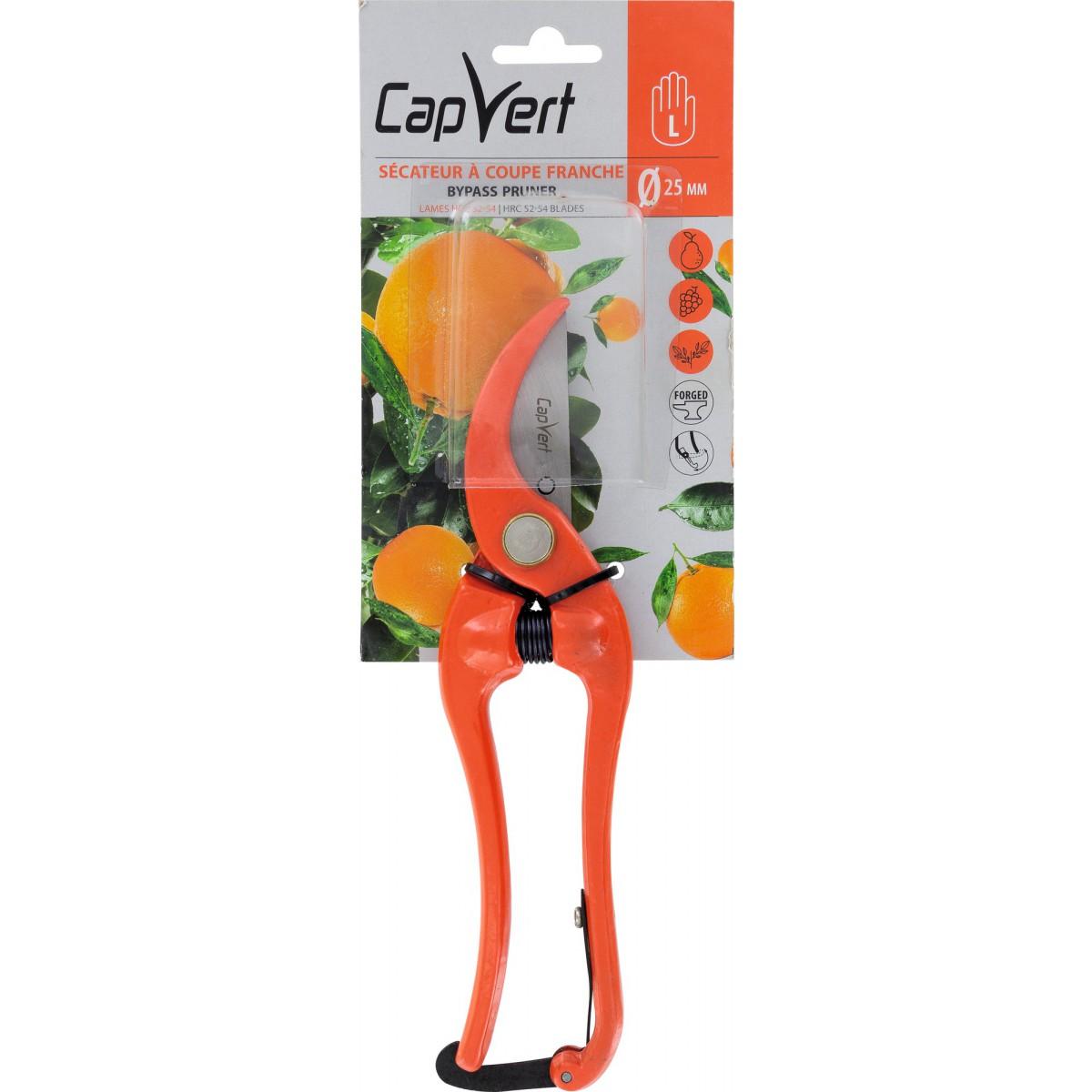 Sécateur traditionnel tout forgé Cap Vert - Longueur 23 cm