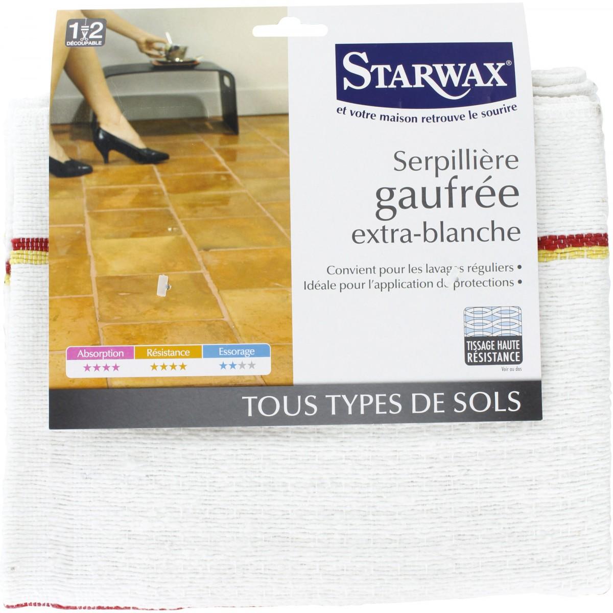 Serpillière gaufrée extra blanche Starwax