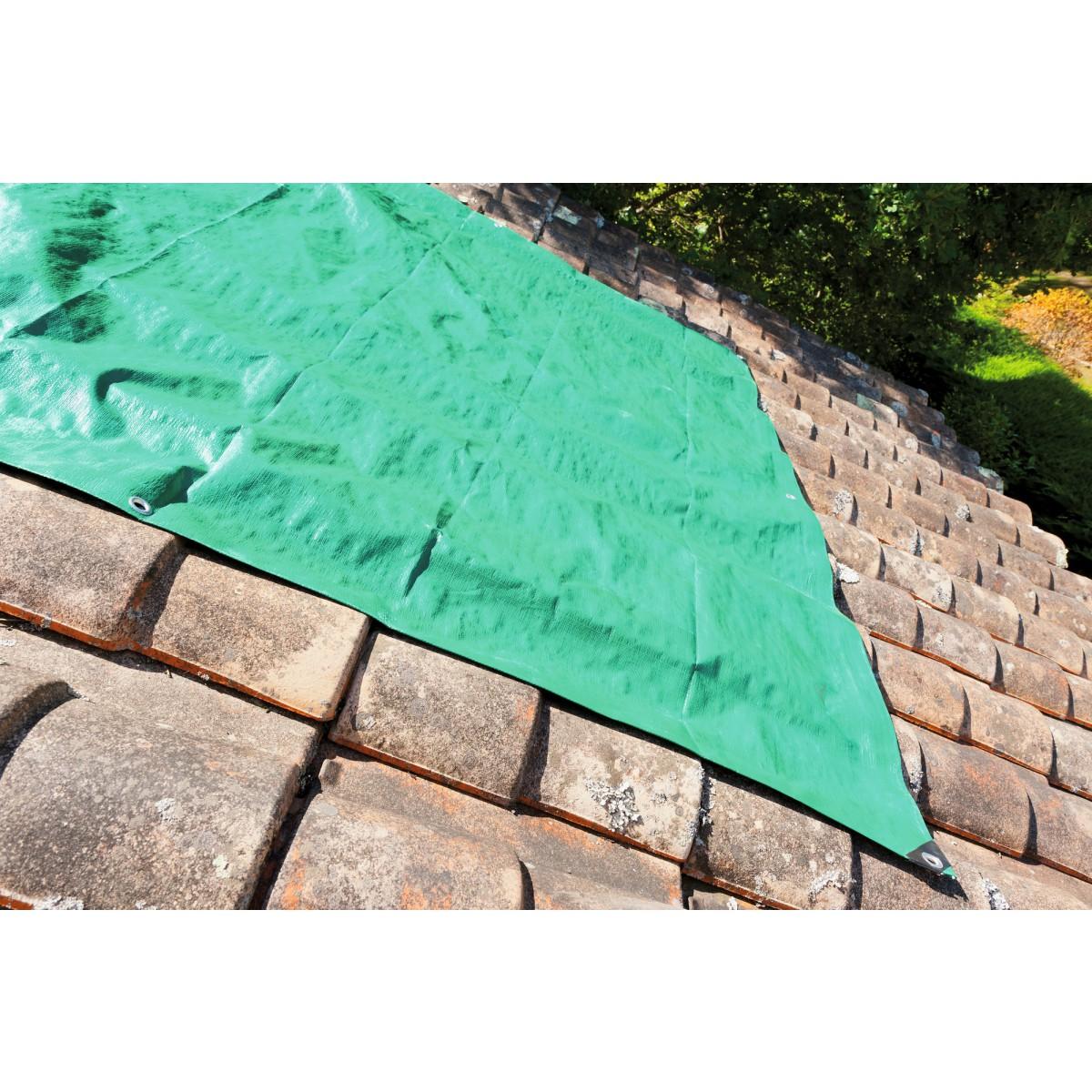 Bâche de protection pro Cap Vert - Dimensions 8 x 12 m
