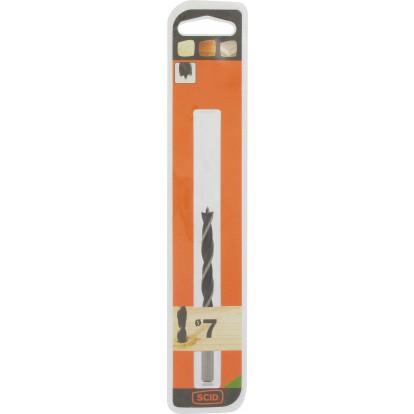 Mèche à bois 3 pointes SCID - Longueur 105 mm - Diamètre 7 mm