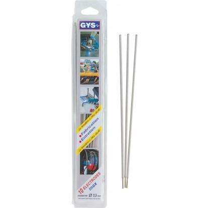 Electrode inox Gys - Diamètre 2,5 mm - Vendu par 10