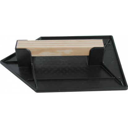 Taloche plastique noire triangulaire Outibat - Dimensions 18 x 27 cm