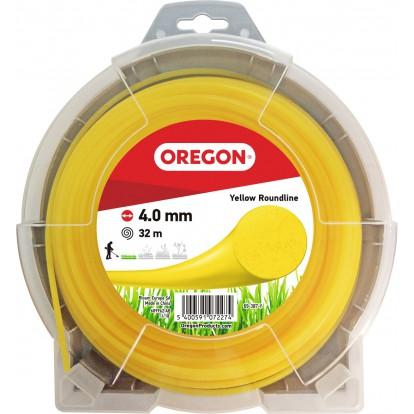 Fil rond pour débroussailleuse Oregon - Longueur 32 m - Diamètre 4 mm