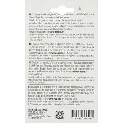 Recharge 50 ml Nenette - Pour lustreuse imprégnée