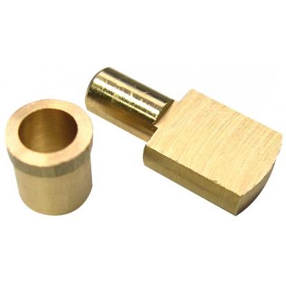 Taquet d'étagère laiton poli Strauss Vonderweidt - Tige de 6 mm - Vendu par 4