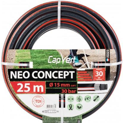Tuyau d'arrosage Néo Concept Cap Vert - Diamètre 15 mm - Longueur 25 m