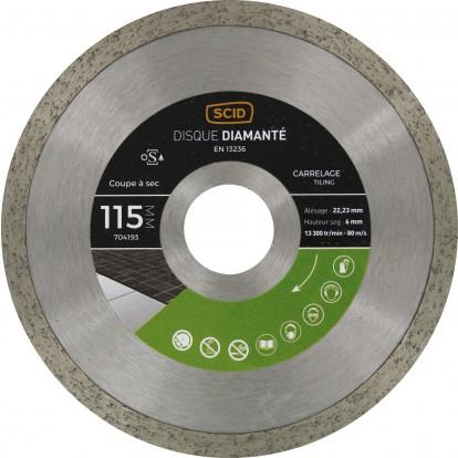 Disque diamanté carrelage universel SCID - Diamètre 115 mm