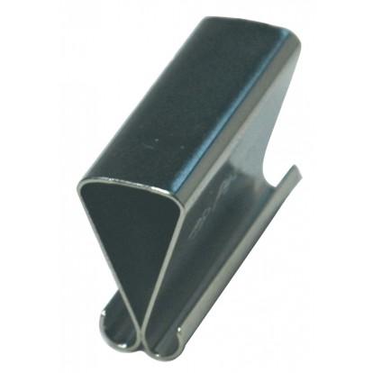 Pince sous verre clips Strauss Vonderweidt - Longueur 25 mm - Epaisseur 9 mm - Vendu par 6