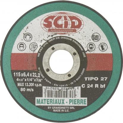 Disque à ébarber SCID - Matériaux - Diamètre 115 mm