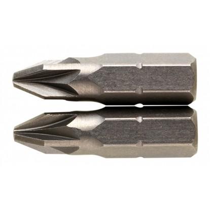 Embout de vissage 25 mm PZ S2 SCID - PZ1 - Vendu par 2