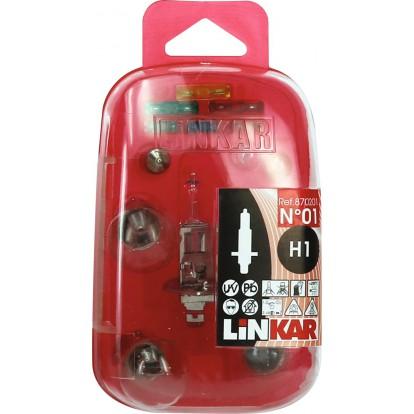 Coffret d'ampoules et fusibles pour véhicule Linkar - H1 ST