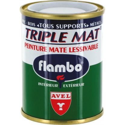 Peinture mate lessivable Flambo - Boîte 100 ml - Blanc