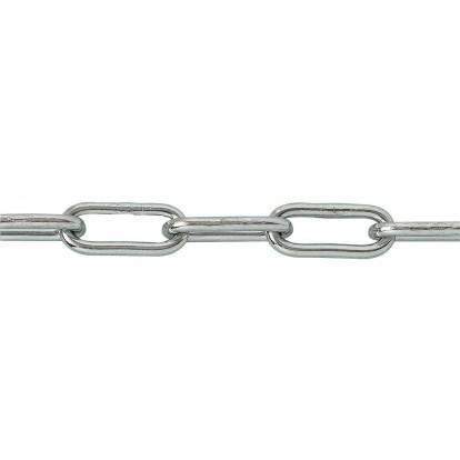 Chaîne soudée droite maille longue en bobine Chapuis - Longueur 25 m - Diamètre 3,5 mm