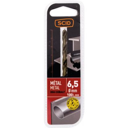 Foret métal HSS cobalt SCID - Longueur 100 mm - Diamètre 6,5 mm