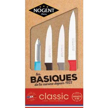 Coffret kraft 4 couteaux en polypropylène Nogent*** - Rainbow