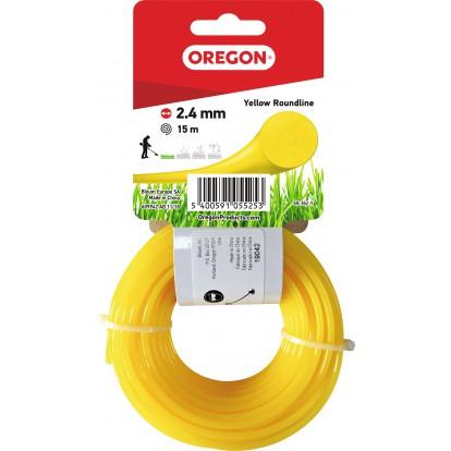 Fil rond pour débroussailleuse Oregon - Longueur 15 m - Diamètre 2,4 mm