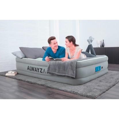 Lit gonflable matelas confort AlwayzAire Bestway - 2 places  - 203 x 152 x 46 cm