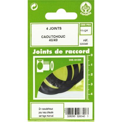 Joint caoutchouc EPDM - Filetage 40 x 49 mm - Vendu par 4