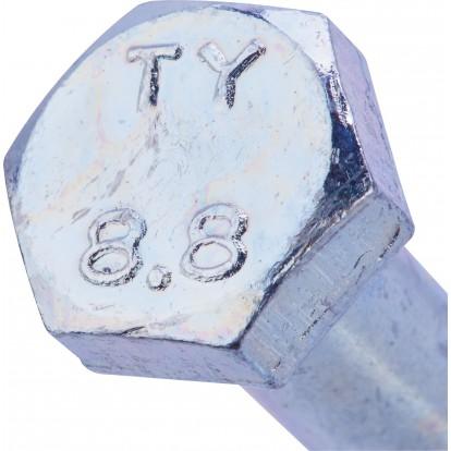Boulon 6 pans tête hexagonale 8.8 acier zingué - 8x60/22 - 2pces - Fixpro