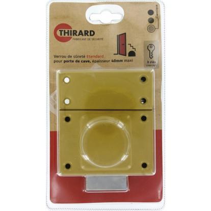 Verrou de sureté à cylindre simple série Etendard Thirard - Dimensions 40 mm
