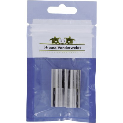 Paumelle nœud rond laiton Strauss Vonderweidt - Chromé - Hauteur 40 mm - Vendu par 2