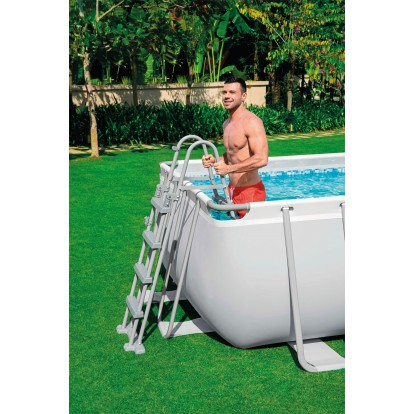 Echelle pour piscine Bestway - Pour piscine hauteur 122 cm - 2 x 3 marches