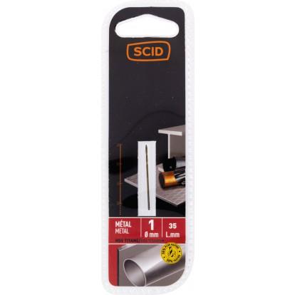 Foret métal HSS titane SCID - Longueur 35 mm - Diamètre 1 mm