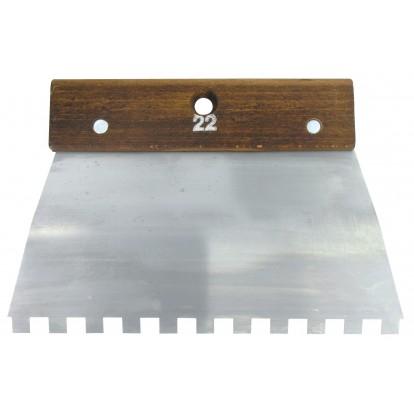 Peigne acier cambre Outibat - Denture carrée 10 x 10 mm - Dimensions 220 mm